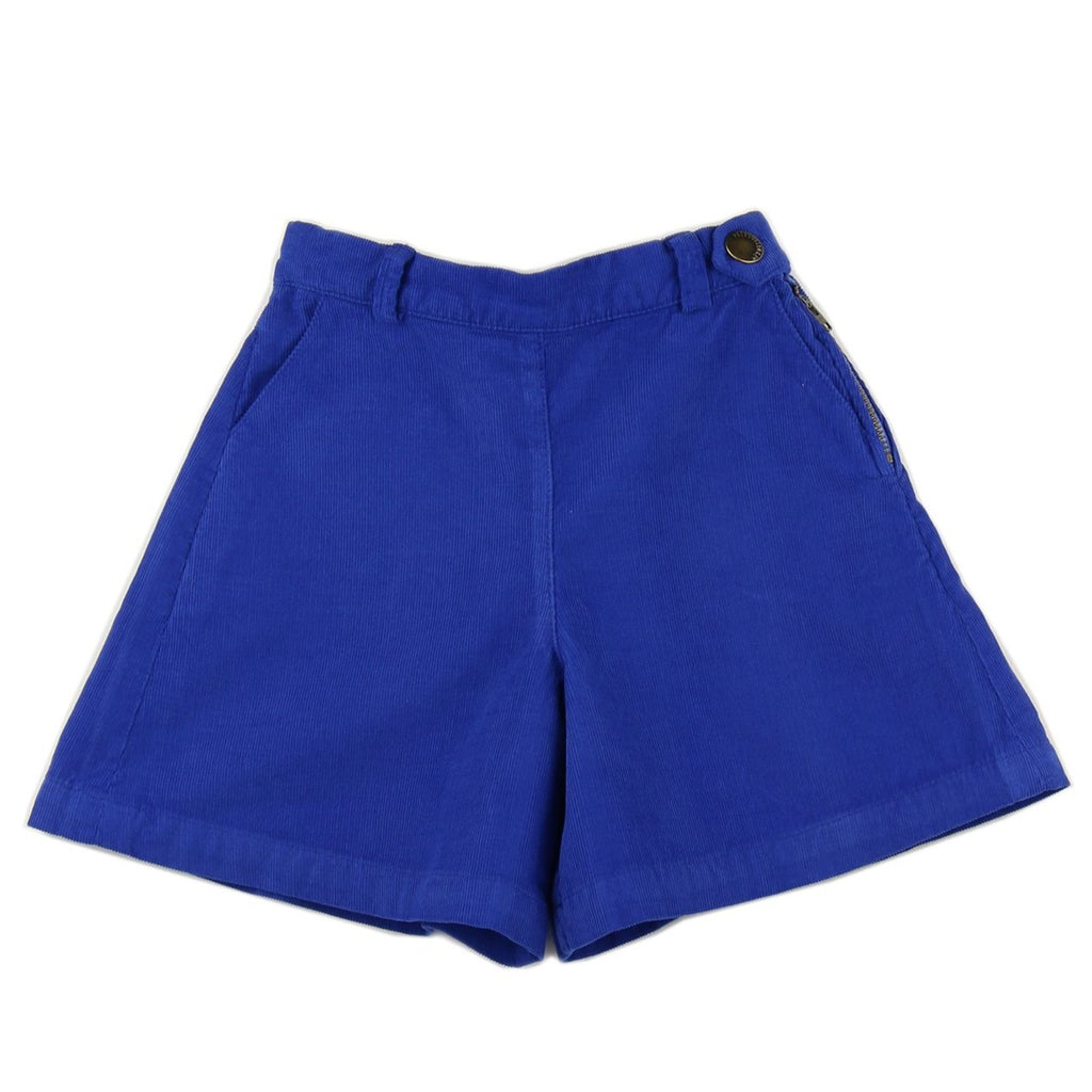 Girl culottes in Royal Blue corduroy - front