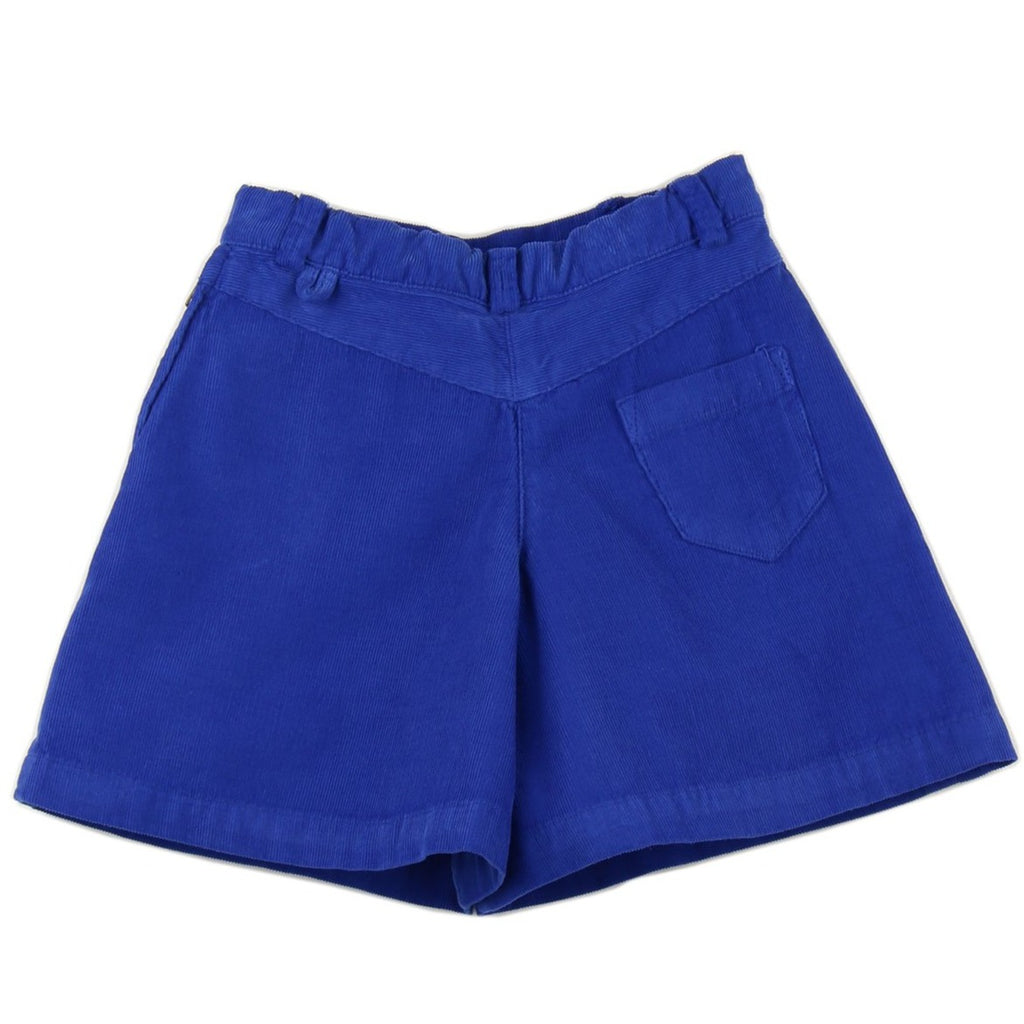 Girl culottes in Royal Blue corduroy - back