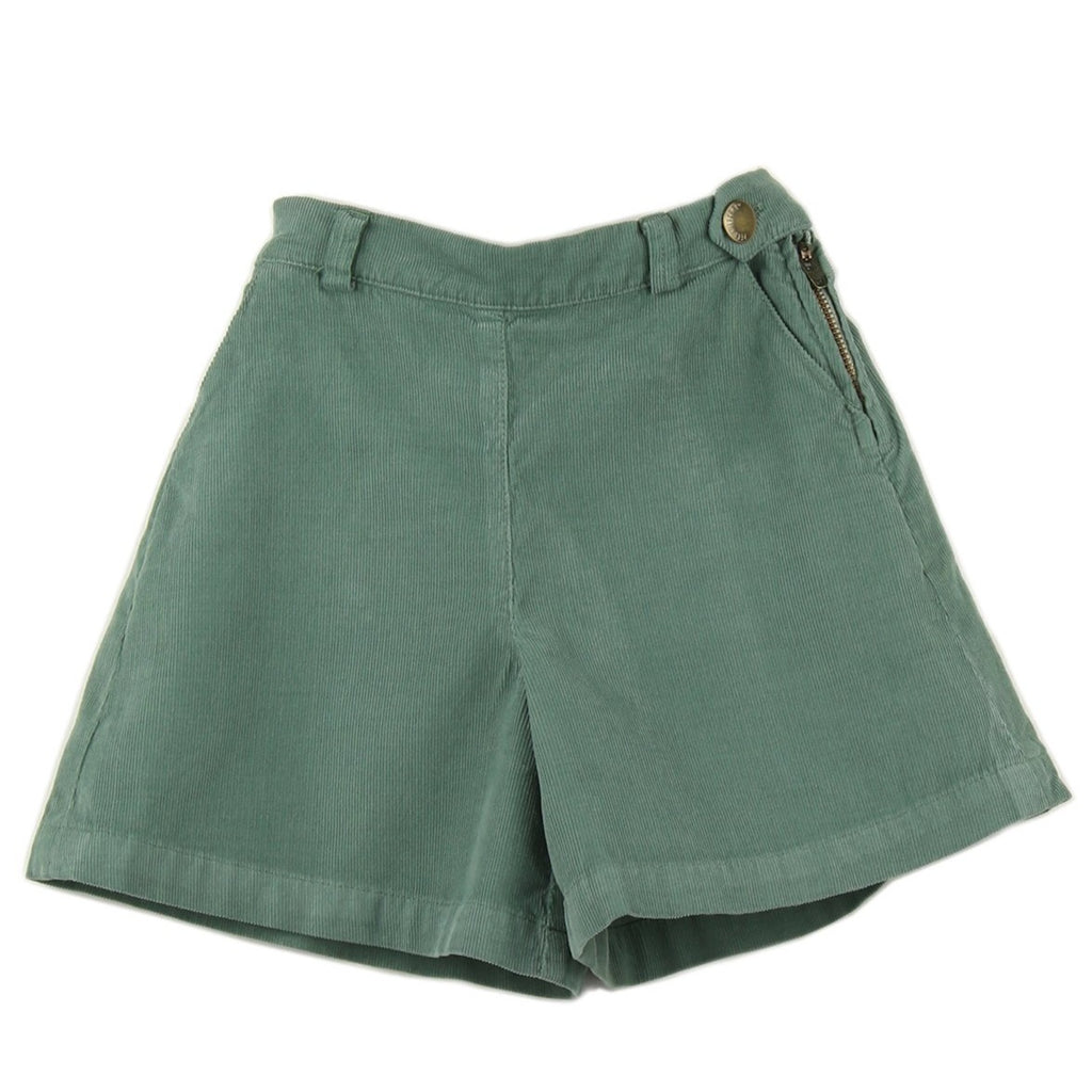 Girl culottes in Green Cactus corduroy - front