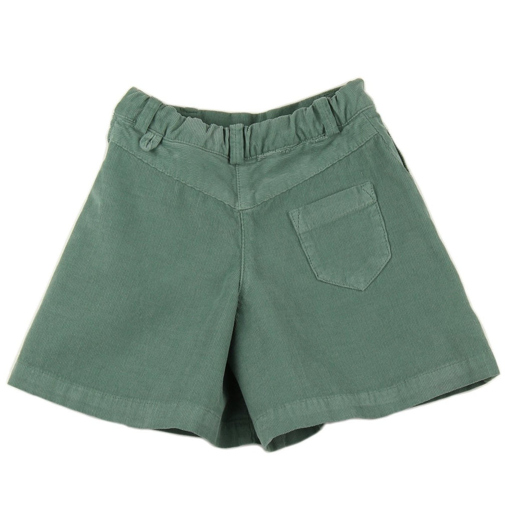 Girl culottes in Green Cactus corduroy - back