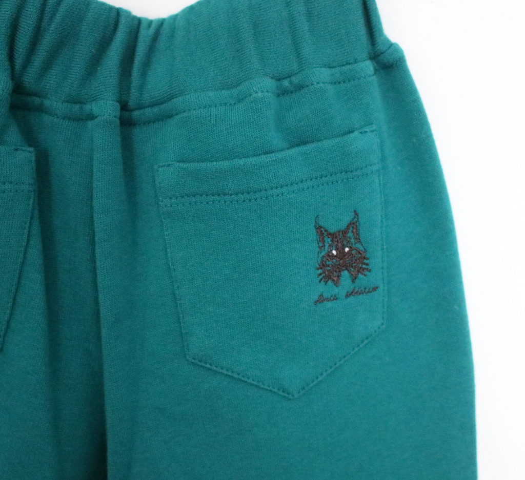 Organic Cotton Joggers | Petrol Green