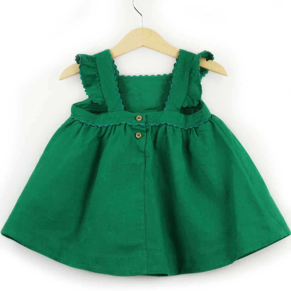 Dress Olive | Linen Blend | Green