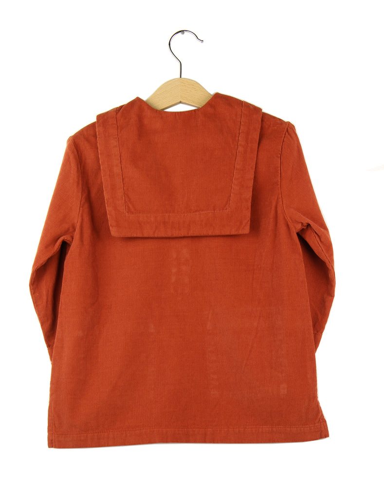 Corduroy dress | Brick