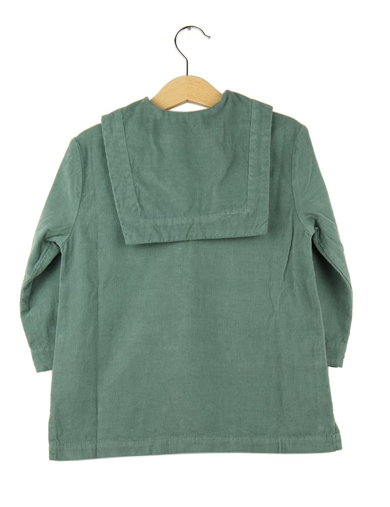 Girls sailor dress  - green cactus