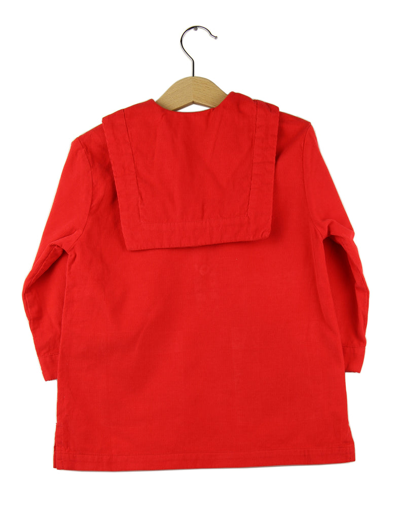 Corduroy dress | Red