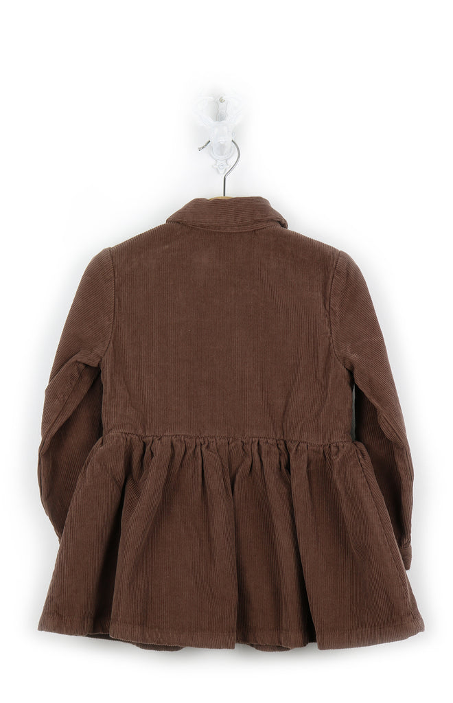 Girls brown dress -corduroy
