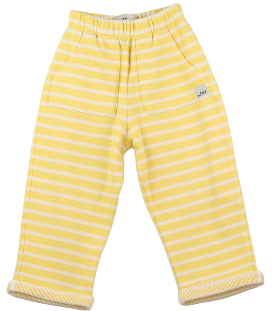 Jersey Joggers | Yellow Stripes