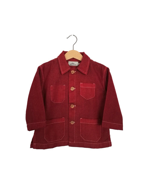 Cotton Wool Workwear Jacket | Red Brick