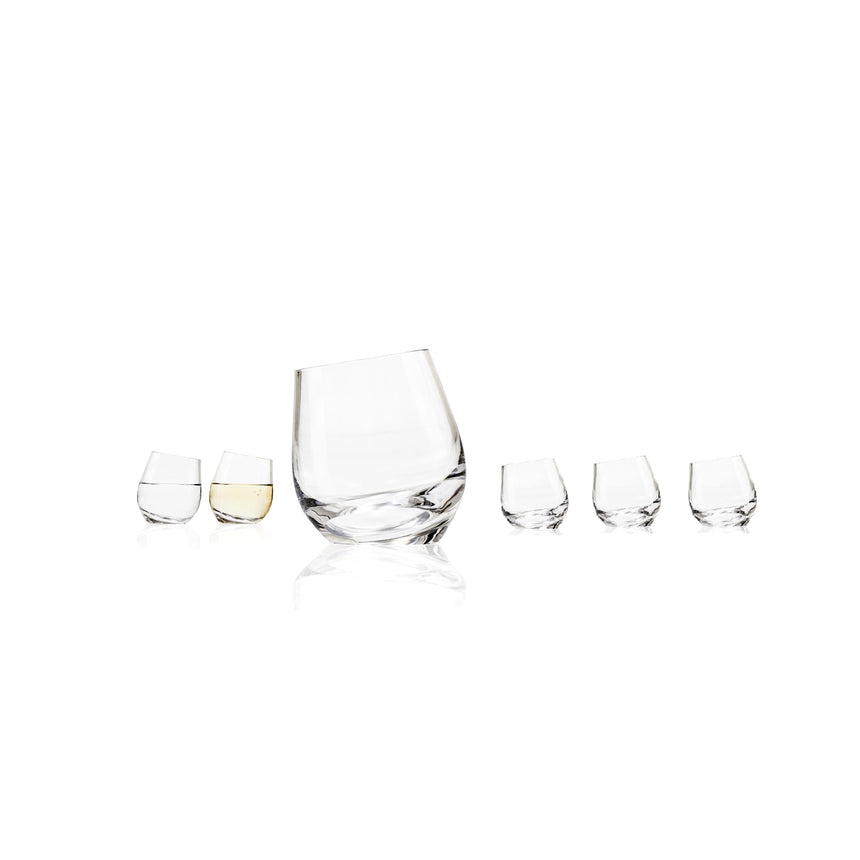 SHADOW White Wine Glasses Set of 6