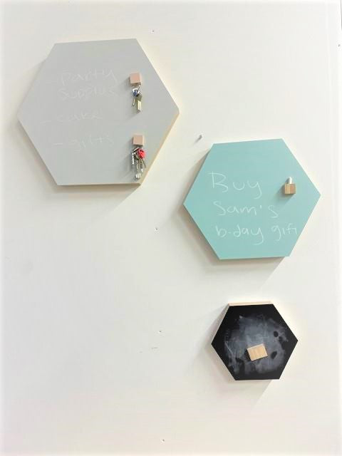 S+M+L Noteboard Set Hexagon