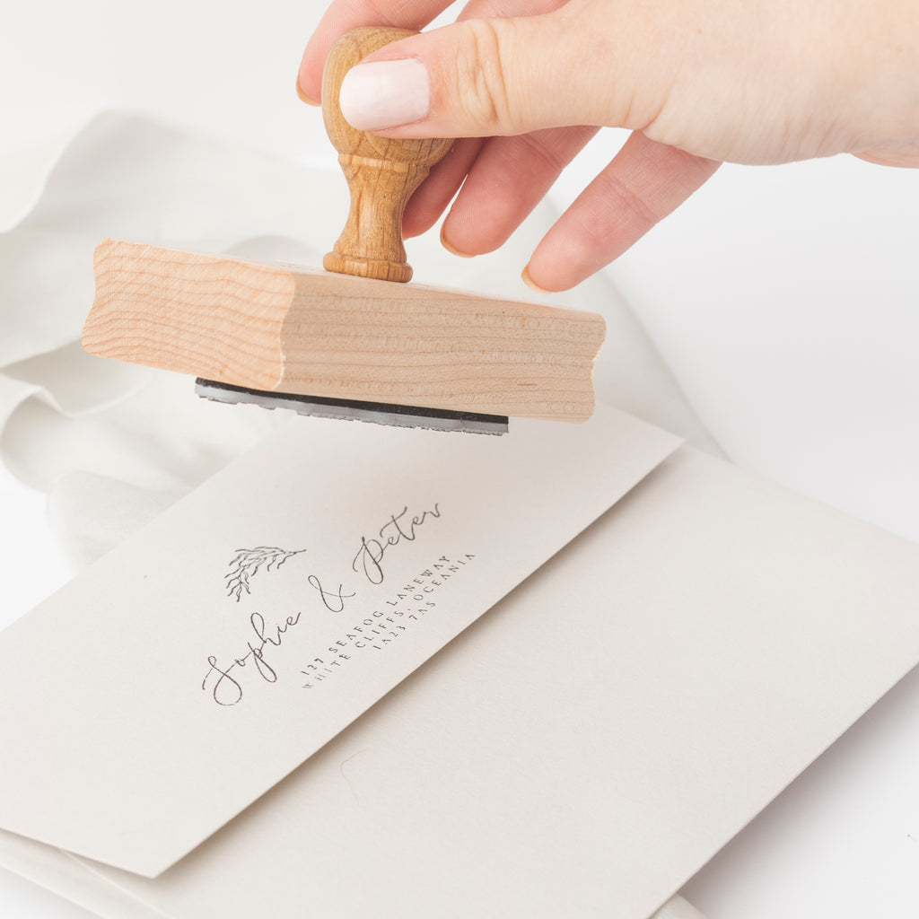 INTRODUCING OUR ADELLA ADDRESS RUBBER STAMP