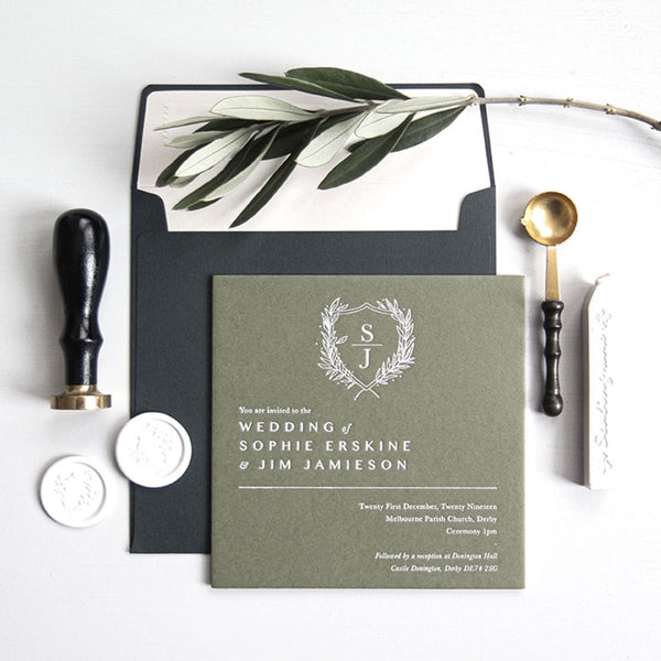 MINIMAL WINTER WEDDING INVITATIONS FROM PAPERKNOTS DESIGN - SOPHIE & JIM