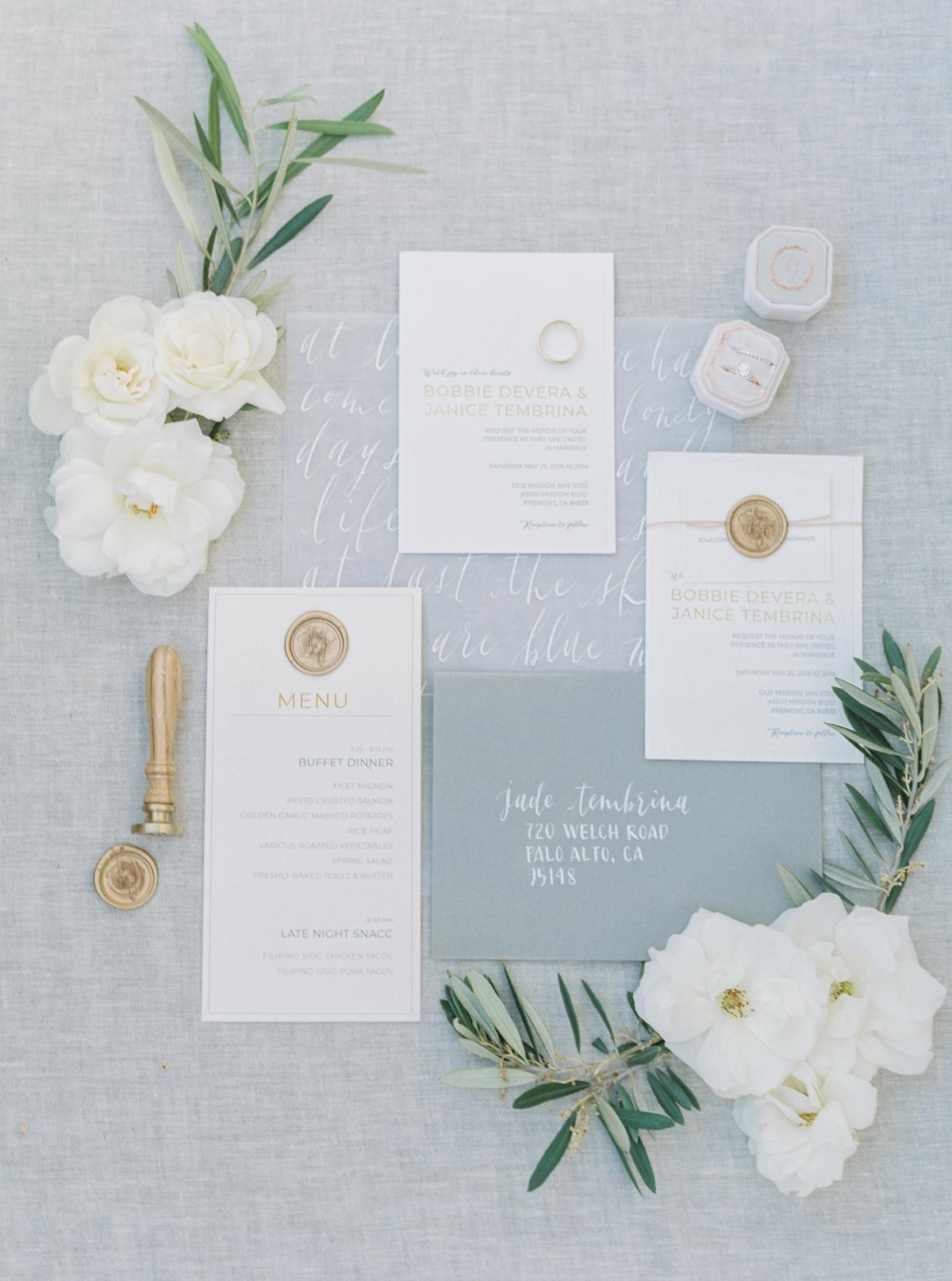 Janice & Bobbie's Spring Wedding | Calligraphy Script Self-Adhesive Wax Seals | Heirloom Seals