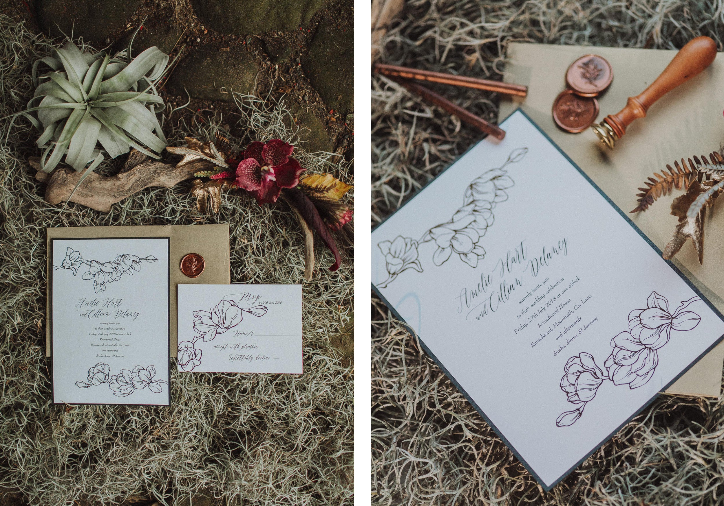 Round Wood House Wedding | Heirloom Seals