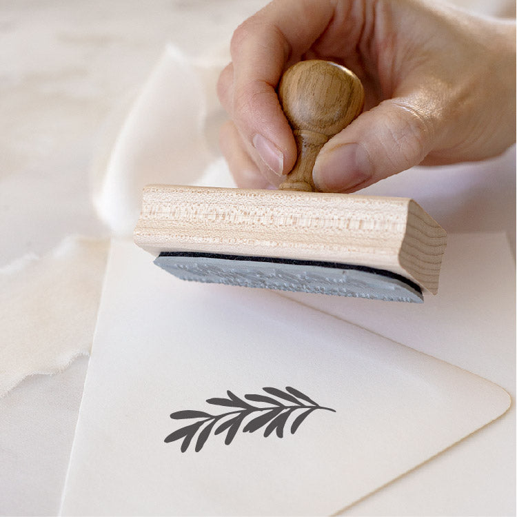 Botanical Olive Branch Rubber Stamp for Fine Art Weddings | Heirloom Seals