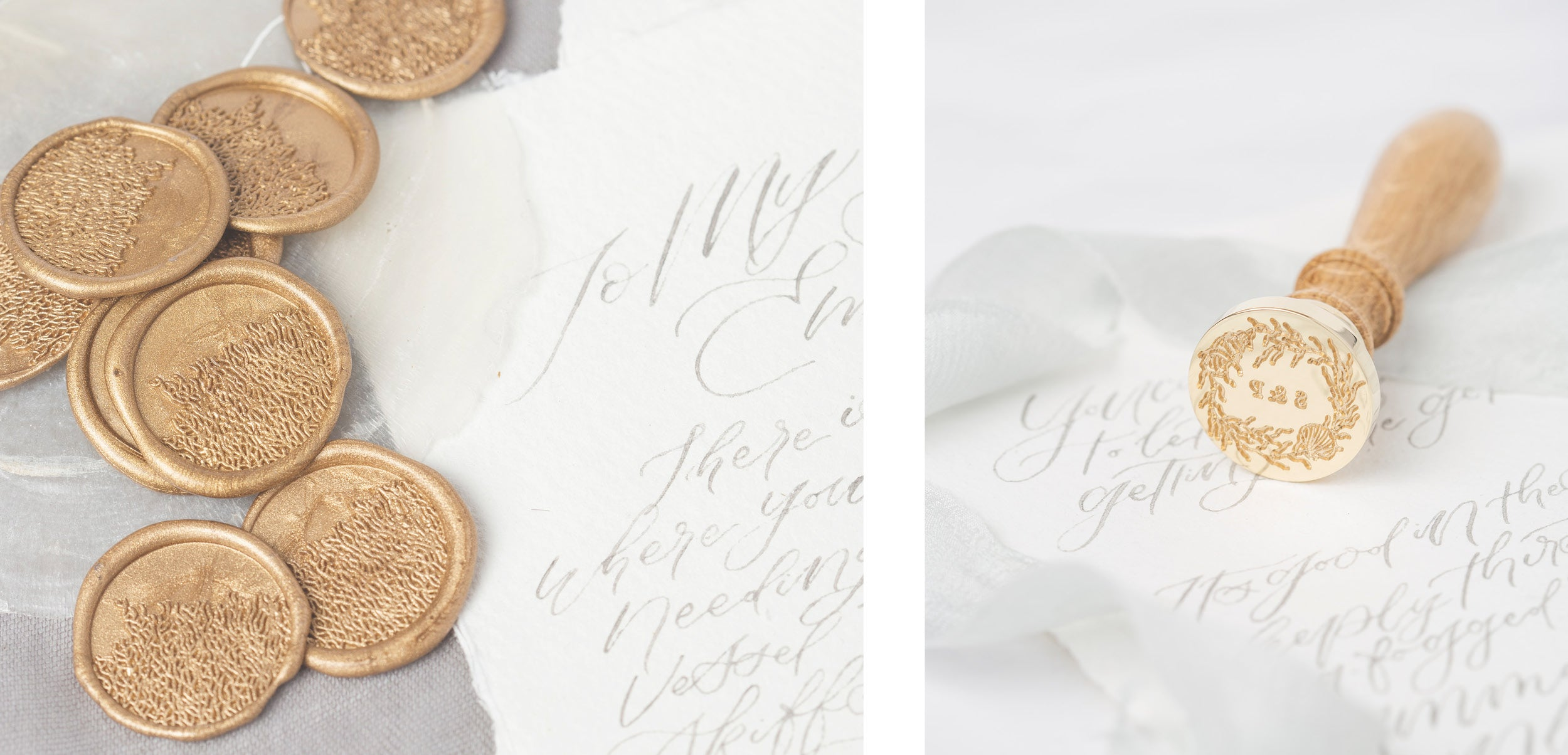 Sea Breeze Coastal Wax Seals for Seaside Wedding Invitations | Heirloom Seals