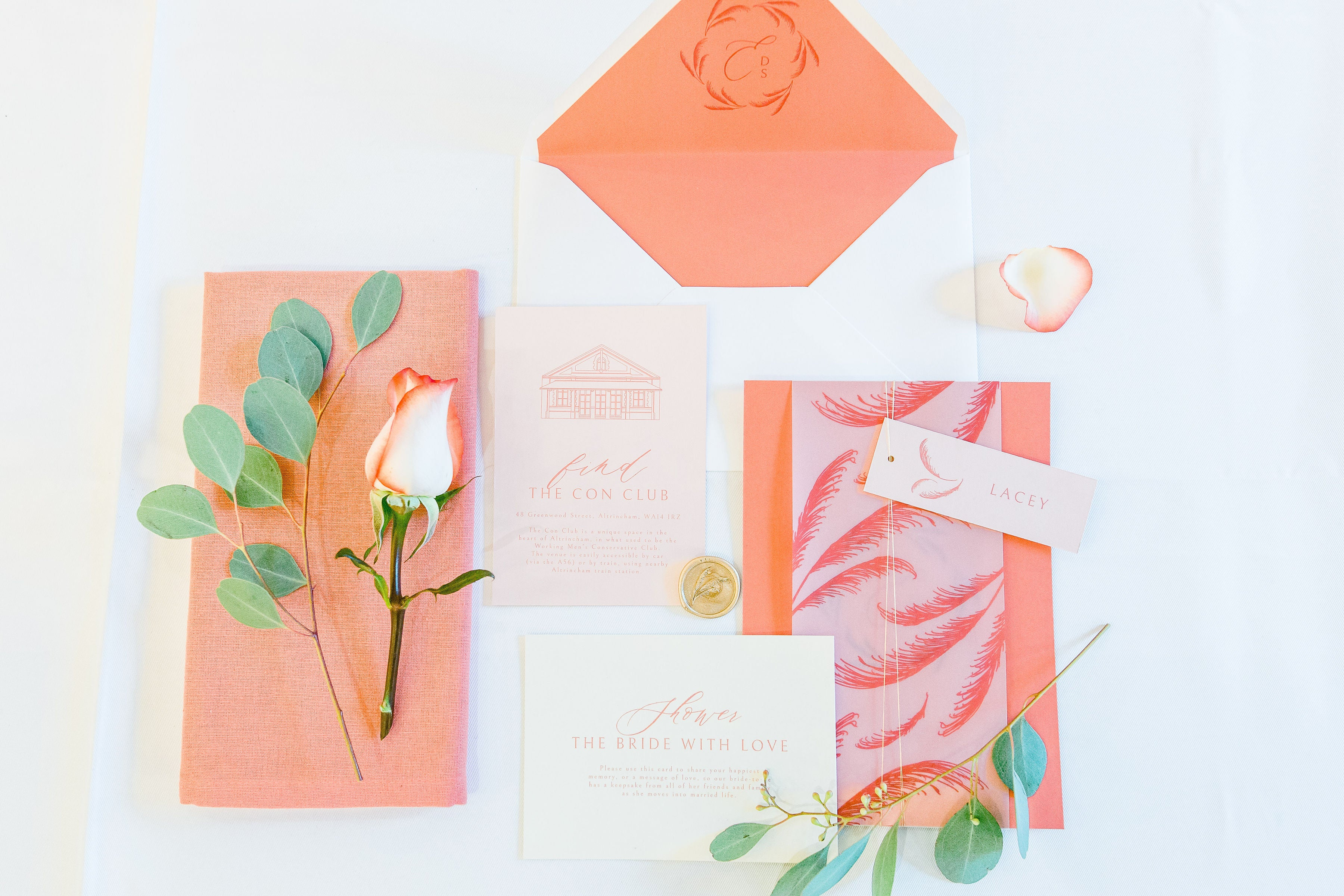 Coral Themed Bridal Shower at The Con Club | Heirloom Seals