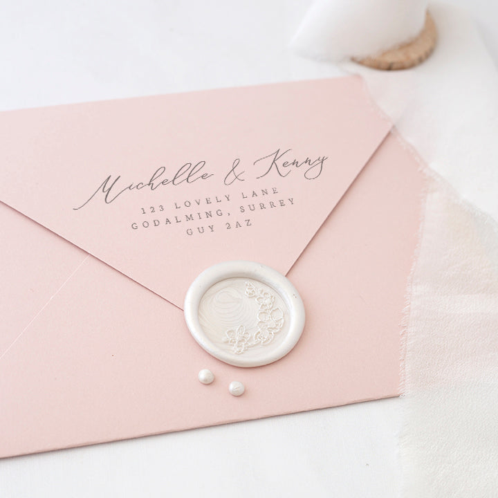 Blush Cherry Blossom Seal-Adhesive Wax Seals | Heirloom Seals