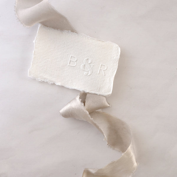 Classic Chic Monogram Embosser | Embossed Deckled Paper | Heirloom Seals
