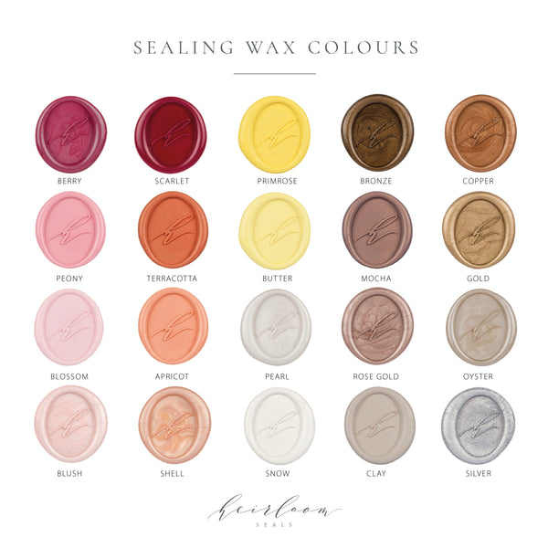 Sealing Wax Colours | Heirloom Seals