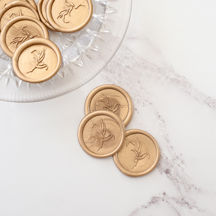 Gold Foliage Wax Seals | Heirloom Seals
