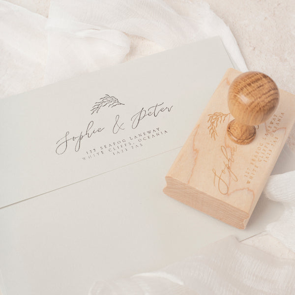 ADELLA COASTAL SCRIPT ADDRESS RUBBER STAMP