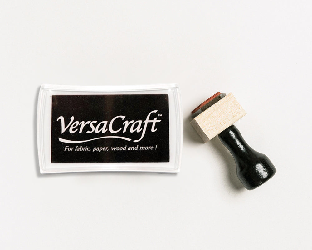VersaCraft Black Ink Pads for Rubber Stamps | Used on Fabric, Paper, Wood || Heirloom Seals