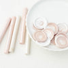 Blush Pink & Pearl White 11mm Glue Gun Sealing Wax Sticks | Heirloom Seals