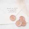 Blush Pink Botanical Leaf Wax Seals for Fine Art Wedding Invitations | Heirloom Seals