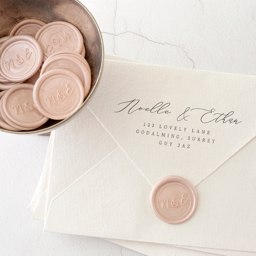 Blush Pink Monogram Wax Seals | Heirloom Seals