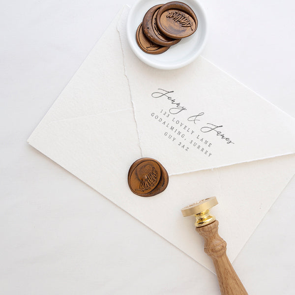 Oval Leaf Wax Seals | Botanical Gold Wax Seals | Heirloom Seals