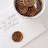 Bronze Classic Monogram Wax Seals for Minimal Wedding | Heirloom Seals
