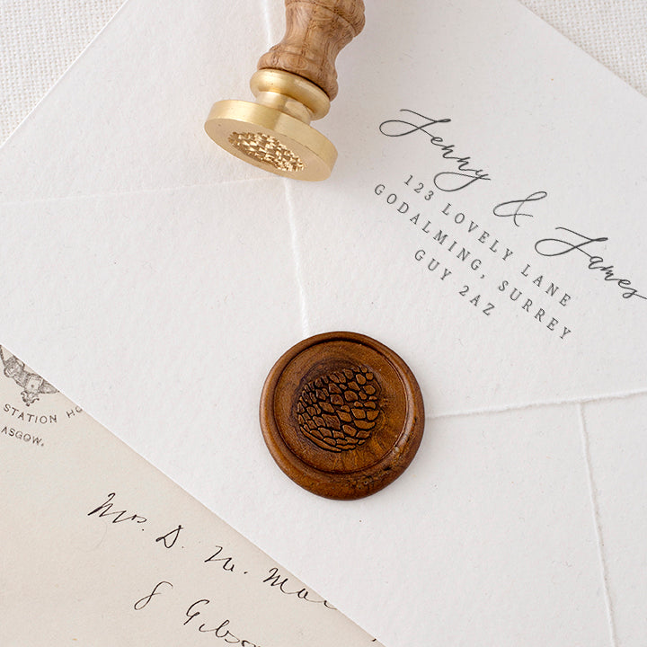 PINECONE - Wax Seal Stamp