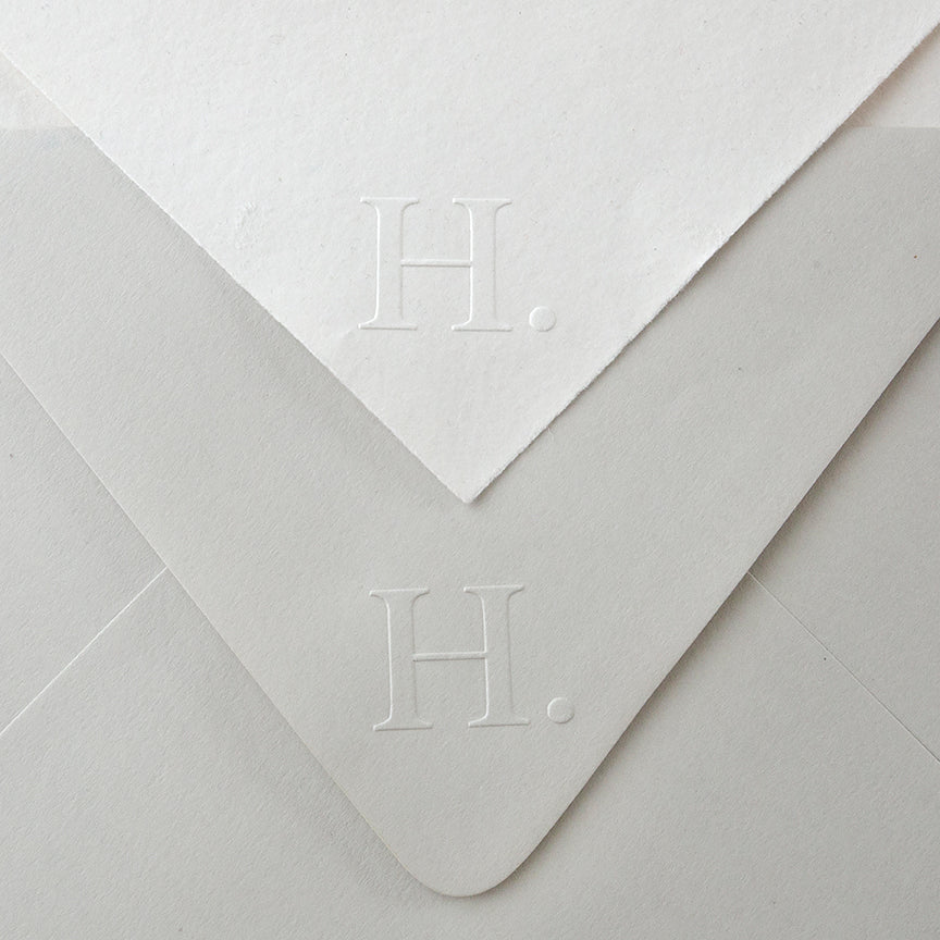 Contemporary Initial Embosser | Modern Embossed Envelopes | Heirloom Seals