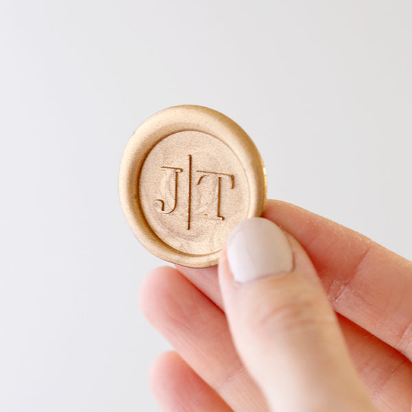 Gold Minimal Monogram Wax Seals | Heirloom Seals