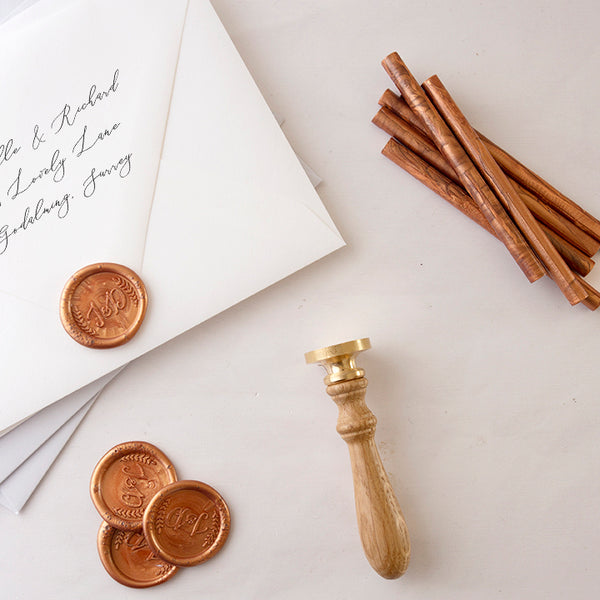 RUSTIC MONOGRAM WAX SEAL STAMP - HAYLEY