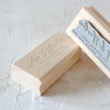 Custom Calligraphy Address Rubber Stamp | Heirloom Seals