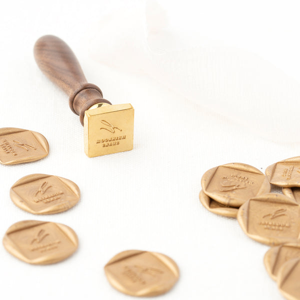 Custom Square Wax Seals for Wedding Invitations | Heirloom Seals