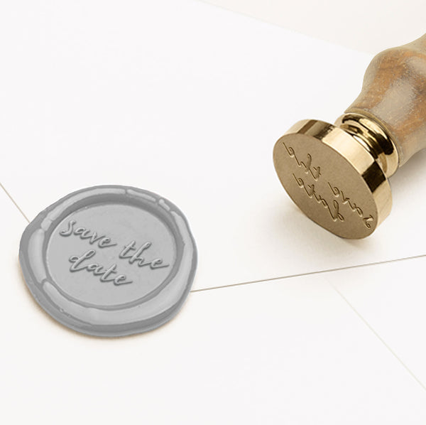 SAVE THE DATE (2) - Wax Seal Stamp - Heirloom Seals