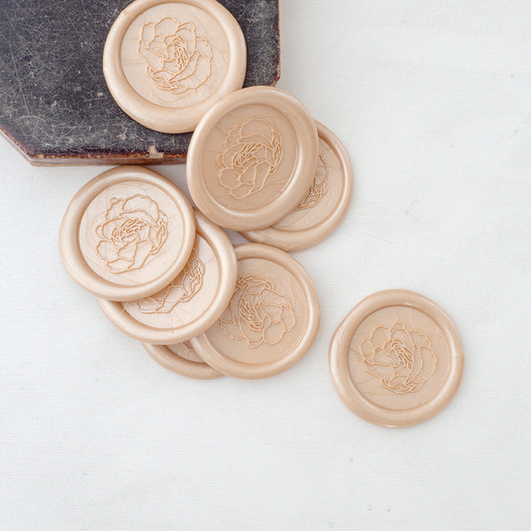Pretty Champagne Peony Wax Seals | Heirloom Seals