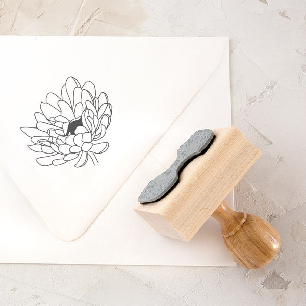 Flower Botanical Rubber Stamp for Fine Art Wedding Invitations | Heirloom Seals