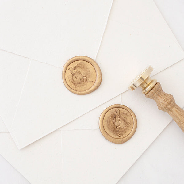 Gold Feather Wax Seal | Heirloom Seals