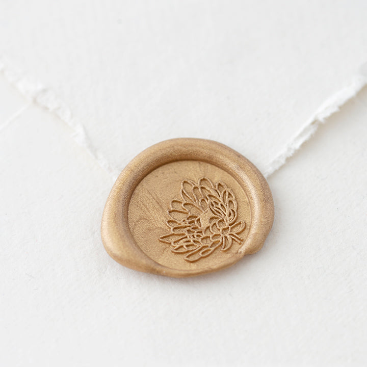 Flower Wax Seal Stamp | Botanical Wax Seals | Heirloom Seals