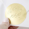 Metallic Gold Foil Stickers | Gold Certificate Wafer Seals | Heirloom Seals