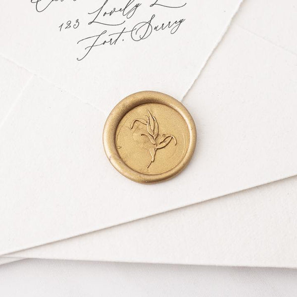 Gold Botanical Wax Seal | Gold Foliage Wax Seal | Heirloom Seals