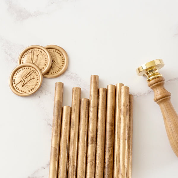 Gold 7mm Glue Gun Sealing Wax Sticks | Heirloom Seals