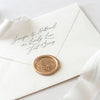 Gold Botanical Wax Seal for Wedding Invitations | Heirloom Seals