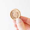 Gold Laurel Self-Adhesive Wax Seal | Heirloom Seals