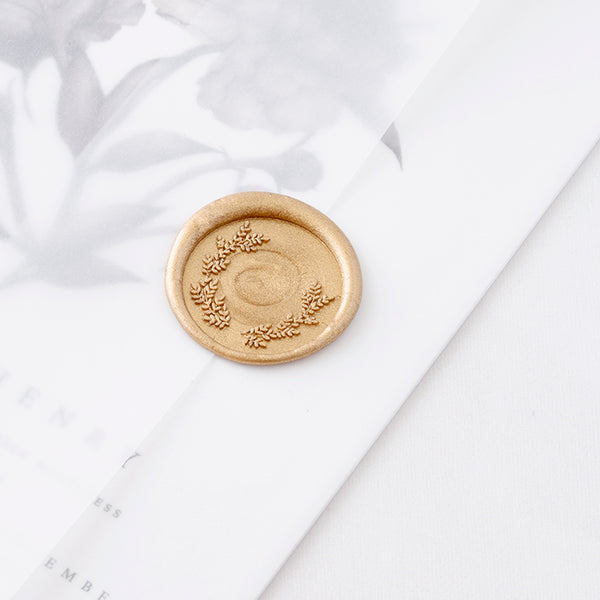 Fine Art Laurel Wax Seal on Vellum Wedding Invitations | Heirloom Seals