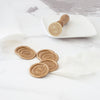 Pretty Gold Monogram Wreath Wax Seals | Heirloom Seals